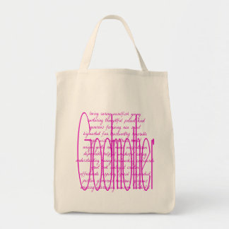 Loving Words for a Godmother Grocery Tote Bag