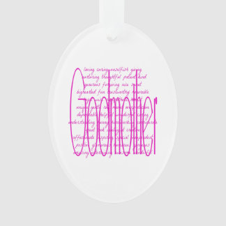 Loving Words for a Godmother Ornament