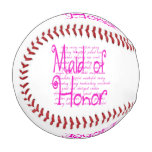 Loving Words for a Maid of Honor Baseball