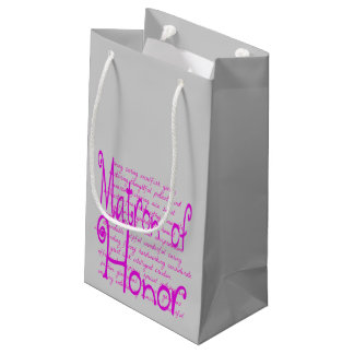 Loving Words for a Matron of Honor Small Gift Bag
