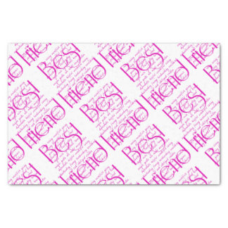 Loving Words for Best Friend Tissue Paper