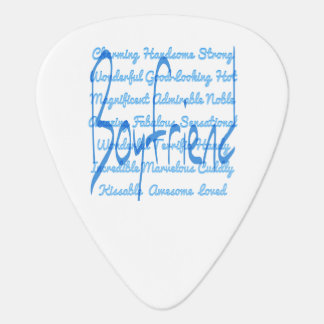 Loving Words for Boyfriend Guitar Pick