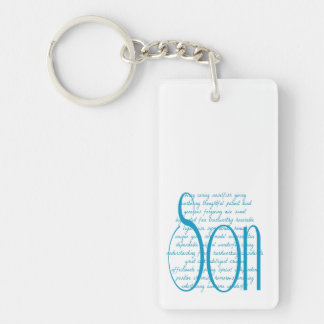 Loving Words for Son Double-Sided Rectangular Acrylic Keychain