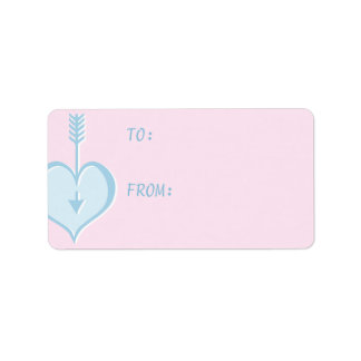 Loving You blue heart Gift Tag Label