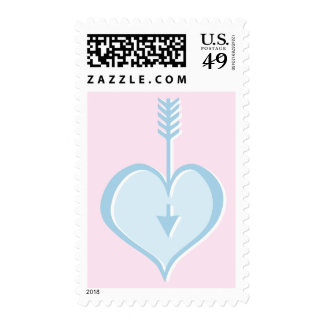 Loving You blue heart Stamp