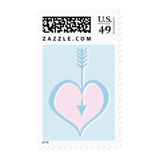 Loving You blue pink heart Stamp