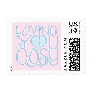 Loving You blue Stamp