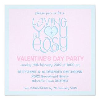 Loving You blue Valentine's Day Invitation