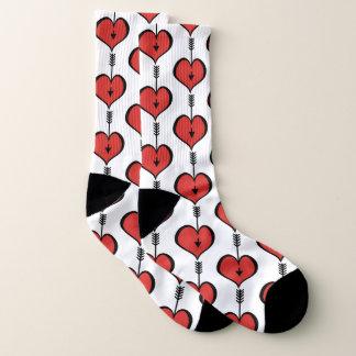 Loving You Heart red Socks