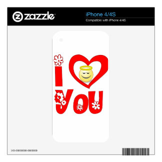 loving you iPhone 4 decals