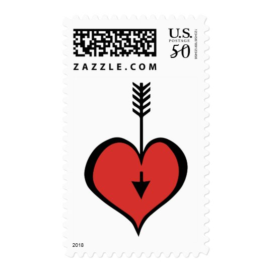 Loving You red heart Stamp