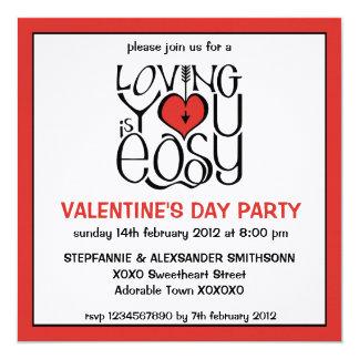 Loving You red Valentine's Day Invitation