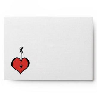 Loving You red white Card Envelope