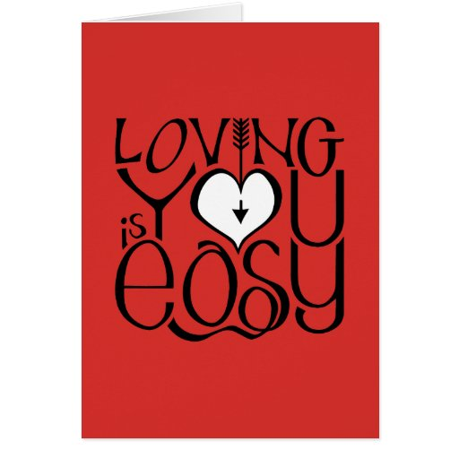 Loving You red white Valentine's Day Card