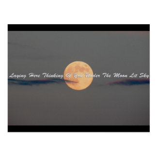 Loving You Under The Moon Lit Stars Postcard