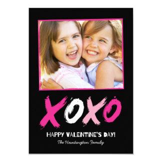 "Lovingly Brushed Valentine's Day Photo Cards 5"" X 7"" Invitation Card"