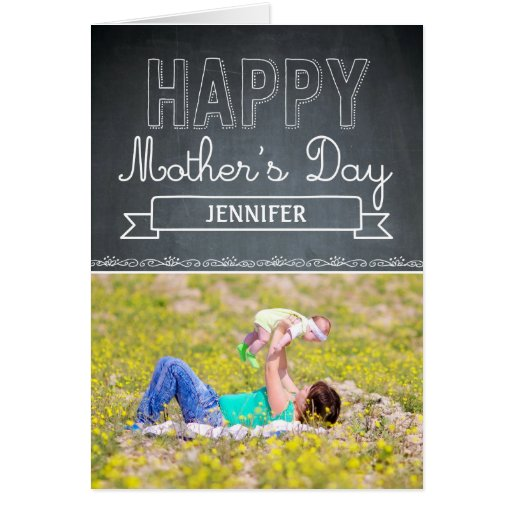 Lovingly Drawn Mothers Day Photo Card Cards