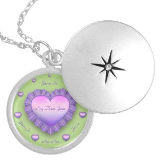 LovingMyThreeJays Round Locket Necklace
