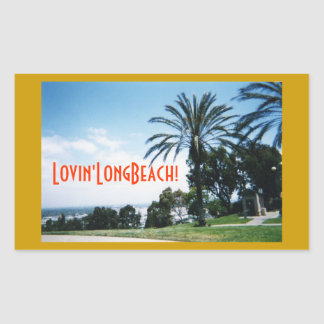 ¡Lovin'LongBeach! Pegatina Rectangular