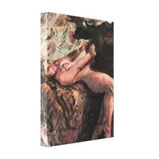 Lovis Corinth - Joseph and Potiphar's wife Canvas Print