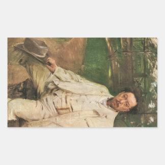 Lovis Corinth - Portrait of the pianist Conrad Ans Rectangular Sticker
