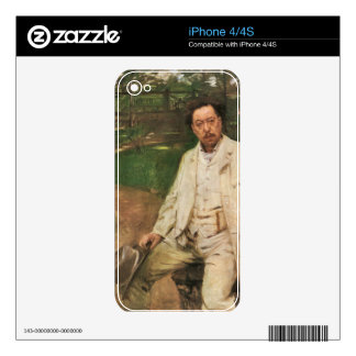 Lovis Corinth - Portrait of the pianist Conrad Ans iPhone 4 Decal