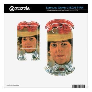 Lovis Corinth - Womens Half-portrait with straw ha Samsung Gravity 3 Decals