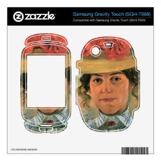 Lovis Corinth - Womens Half-portrait with straw ha Samsung Gravity Touch Skin