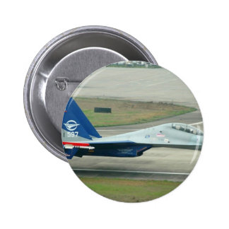 LOW AND FAST! RUSSIAN AIRSHOW PINBACK BUTTON