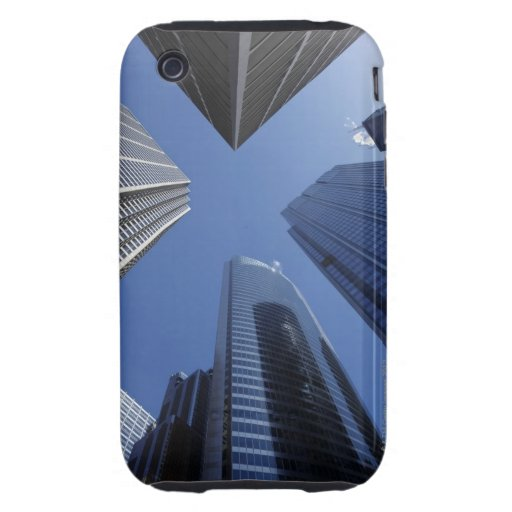 Low angle upward exterior view of downtown tough iPhone 3 cover