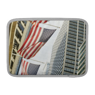 Low angle view at American flags in downtown MacBook Air Sleeve