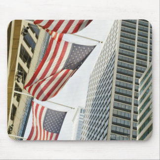 Low angle view at American flags in downtown Mouse Pad