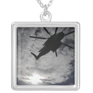 Low angle view of a CH-53E Square Pendant Necklace