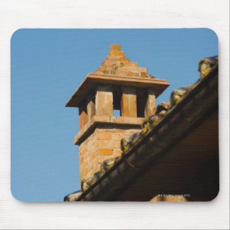 Low angle view of a chimney on a roof, San Mouse Pad