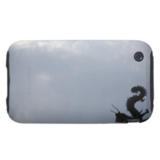 Low angle view of a dragon sculpture on a temple tough iPhone 3 cover