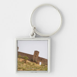 Low angle view of a fort, Monteriggioni, Siena Keychain