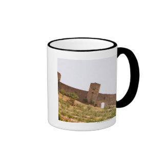 Low angle view of a fort, Monteriggioni, Siena Ringer Coffee Mug