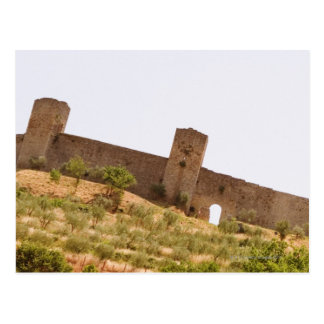 Low angle view of a fort, Monteriggioni, Siena Postcard