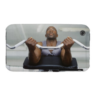 Low angle view of a mid adult man exercising in iPhone 3 Case-Mate case