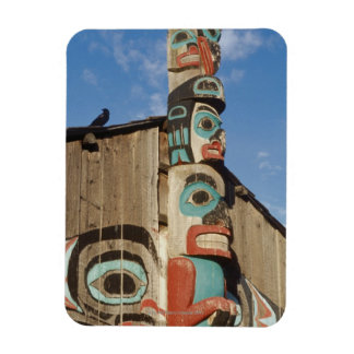 Low angle view of a Totem Pole, Haines, Alaska, Vinyl Magnets