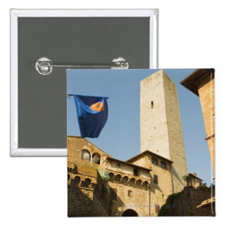 Low angle view of a tower, Torri Di San 2 Inch Square Button