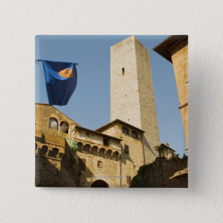 Low angle view of a tower, Torri Di San Pinback Button