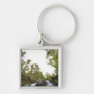 Low Angle View of a Waterfall with Sky view Keychain