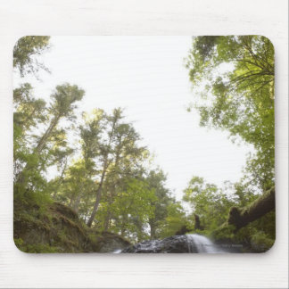 Low Angle View of a Waterfall with Sky view Mouse Pad