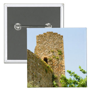 Low angle view of an ancient building, 2 inch square button