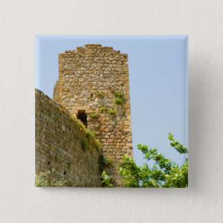 Low angle view of an ancient building, button