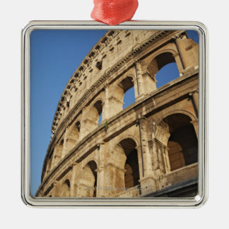 Low angle view of Colosseum Square Metal Christmas Ornament