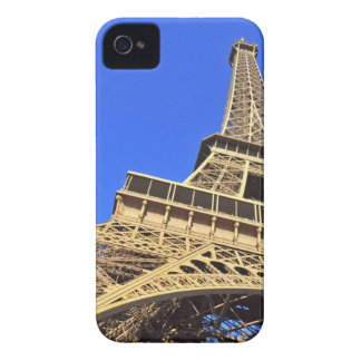 Low angle view of Eiffel Tower against blue sky 2 Case-Mate iPhone 4 Case