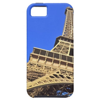Low angle view of Eiffel Tower against blue sky 2 iPhone 5 Case