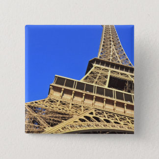 Low angle view of Eiffel Tower against blue sky 2 Pinback Button